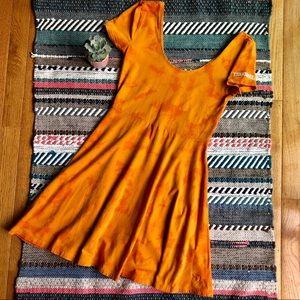 VS Pink Tennessee Orange Tie Dye Mini Dress